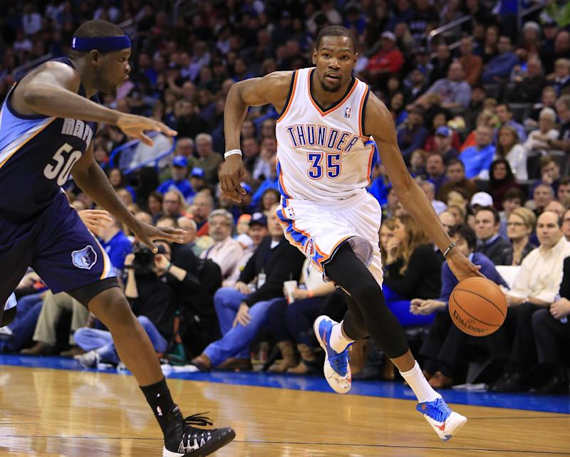 Durant and Ibaka lead Thunder past Grizzlies 86-77