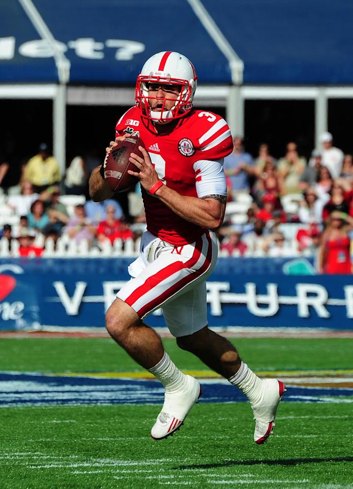 ORLANDO, FL - JANUARY 1: Taylor Martinez #3 of the Nebraska Cornhuskers passes against the Georgia Bulldogs during the Capital One Bowl at the Citrus Bowl on January 1, 2013 in Orlando, Florida. (Photo by Scott Cunningham/Getty Images)