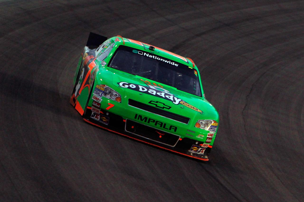 HOMESTEAD, FL - NOVEMBER 19:  Danica Patrick drives the #7 GoDaddy.com Chevrolet during the NASCAR Nationwide Series Ford 300 at Homestead-Miami Speedway on November 19, 2011 in Homestead, Florida.  (Photo by Jonathan Ferrey/Getty Images)