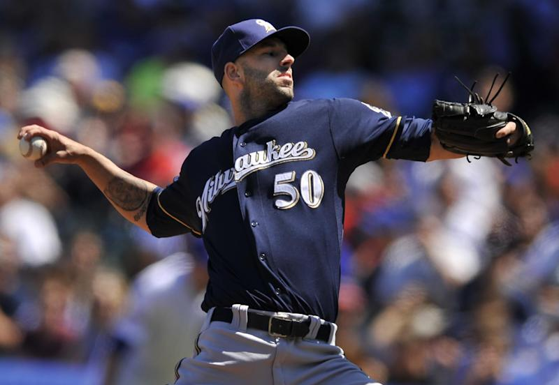 Fiers fans 14 in Brewers 6-2 win over Cubs