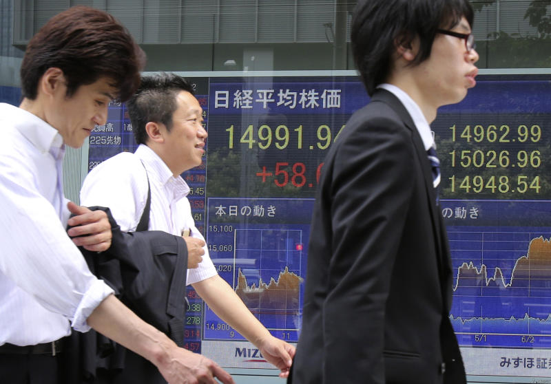 World stocks mixed as investors wait for Fed