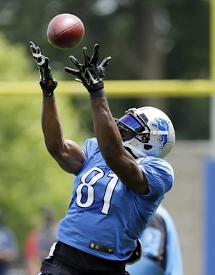 Calvin Johnson is hard to miss on a football field. (AP)