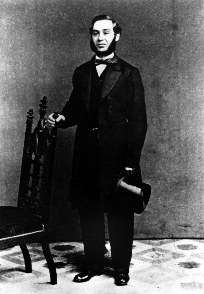 This is a 1850s photograph of Levi Strauss, who originated the denim blue jeans that bear his first name. Strauss emigrated from Bavaria with his family to New York City in 1847.  In 1953 he built a clothing factory in San Francisco, supplying tough denim wear for miners.  (AP Photo)