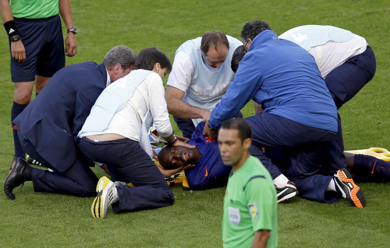 Martins Indi has tests for suspected concussion