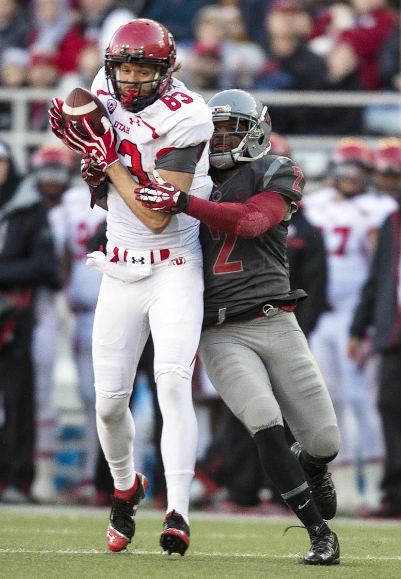 Washington State beats Utah 49-37