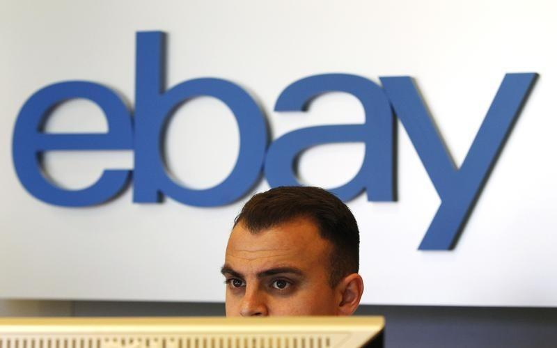 An eBay sign is seen in an eBay office space in San Jose, California