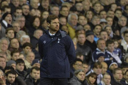 Tottenham Hotspur manager Andre Villas-Boas reacts during their English Premier League soccer match defeat to Liverpool at White Hart Lane in London
