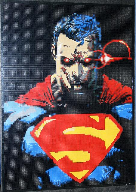 Superman Lego Mosaic by Dave Ware