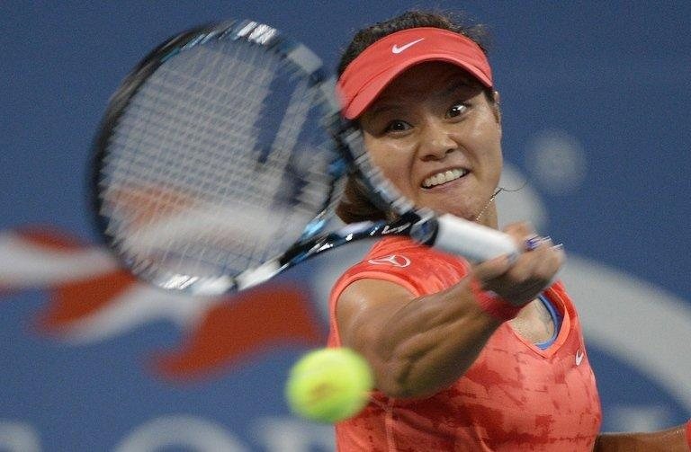 China's Li Na during her US Open match against Serbia's Jelena Jankovic in New York on September 1, 2013