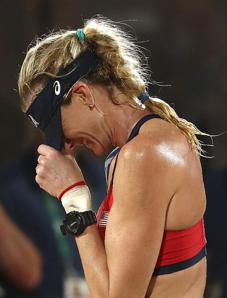 "<p>American beach volleyball player Kerri Walsh Jennings, as reported by <i><a rel=""nofollow"" href=""http://www.today.com/news/kerri-walsh-jennings-beach-volleyball-bronze-no-shame-third-place-t101977"">TODAY</a></i></p>"