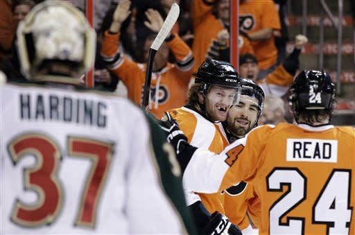 Bryzgalov, Couturier lead Flyers past Wild