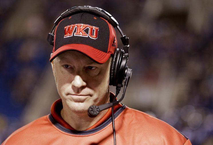 Jeff Brohm will interview for the head coaching job at Baylor. (AP)
