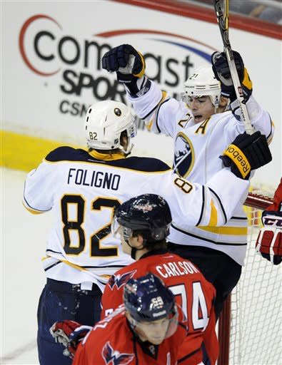Sabres beat Capitals 5-1 to move into 8th place