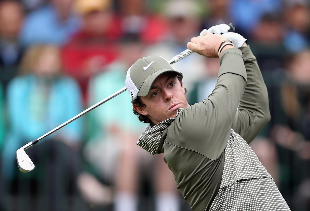 CHARLOTTE, NC - MAY 04:  Rory McIlroy of Northern Ireland hits a tee shot on the 17th hole during the third round of the Wells Fargo Championship at Quail Hollow Club on May 4, 2013 in Charlotte, North Carolina.  (Photo by Streeter Lecka/Getty Images)