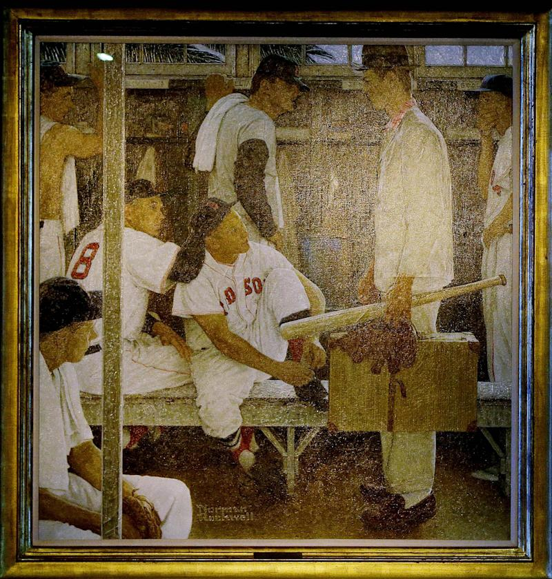 Norman Rockwell's Red Sox classic shown at Fenway
