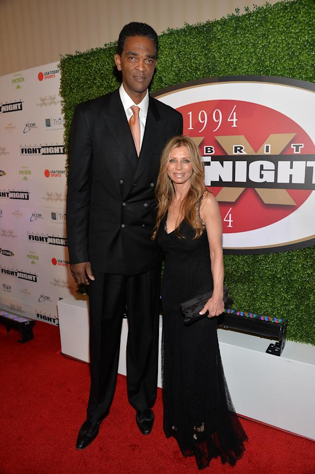 PHOENIX, AZ - APRIL 12: Ralph Sampson (L) attends Muhammad Ali's Celebrity Fight Night XX held at the JW Marriott Desert Ridge Resort & Spa on April 12, 2014 in Phoenix, Arizona. (Photo by Michael Buckner/Getty Images for Celebrity Fight Night)