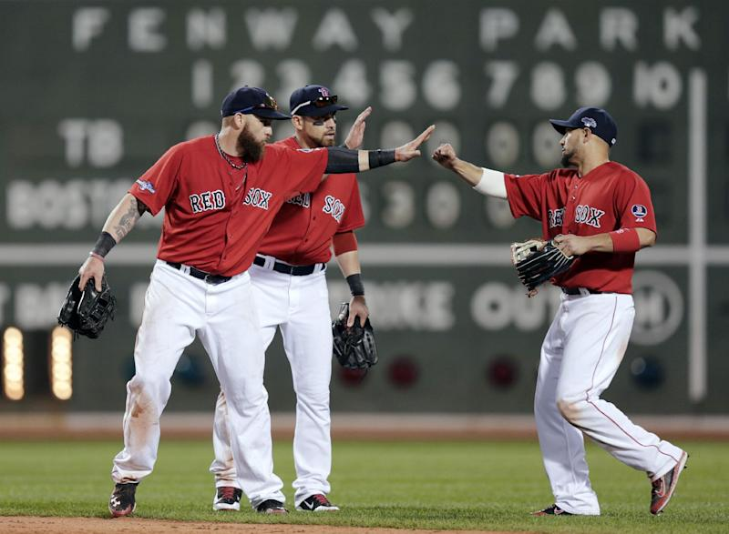 Red Sox jump on Rays miscues, win ALDS opener 12-2