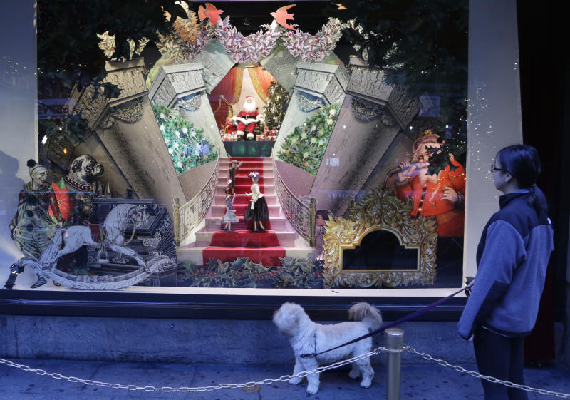 NYC stores trim their windows as gifts to the city