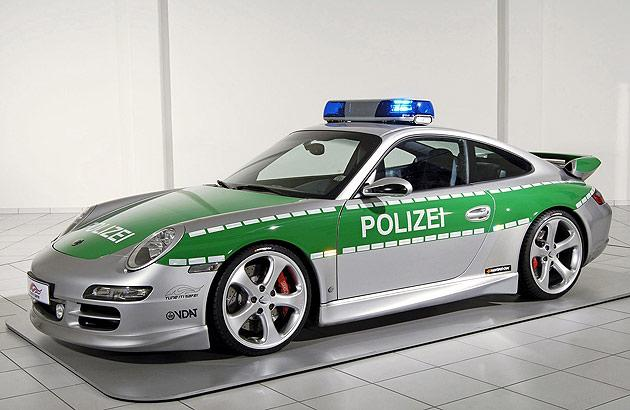 This extensively modified Porsche 911 Carrera S used by German Police is capable of over 186 mph and sprinting to 60 mph in just 4.5 seconds.