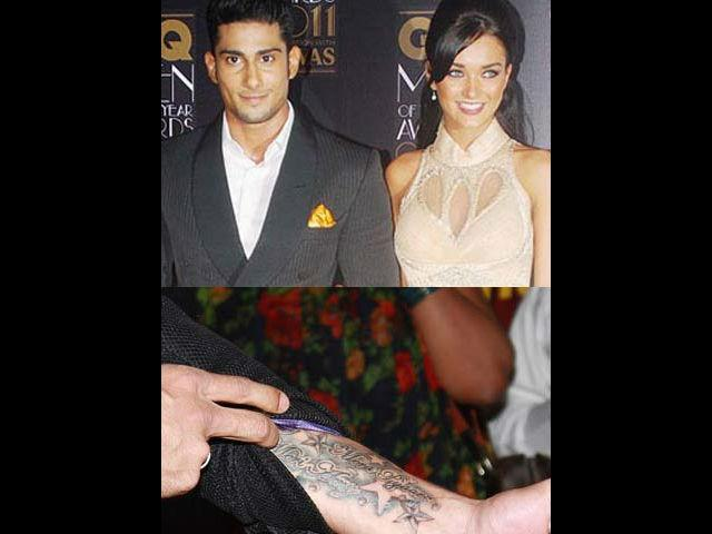"""<b>1. Prateik </b><br> Here is a new lover boy in town. Following Saif's footsteps Prateik too got his girl's name inked on his wrist and proudly flaunts it to the world. Prateik who is dating Amy Jackson, his co-star from his film """"Ekk Deewana Tha"""" has fallen head over heels in love with her. He has a colourful tattoo on his wrist that says """"Mera Pyaar, Meri Amy"""" (My Love, My Amy).  Now that's what we call a grand way to announce your love to the world."""
