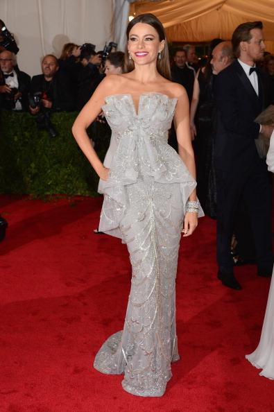 """<div class=""""caption-credit""""> Photo by: Getty Images</div><div class=""""caption-title"""">The year of Sofía</div>This year's queen of the Latin crossover also reigned over the red carpet with her very own sexy, yet elegant style. Vergara, who proved she could rock the mermaid gown better than anyone, dazzled at this year's Met Gala in a silver Marchesa."""