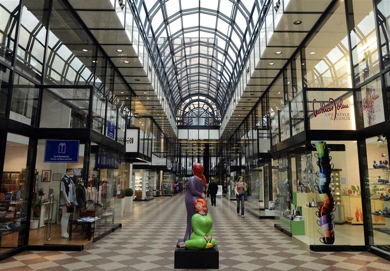 "The shopping mall ""Galerie Luise"" is pictured in downtown Hanover"