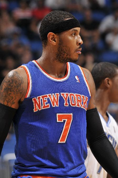 Knicks' Anthony sidelined by sprained left ankle