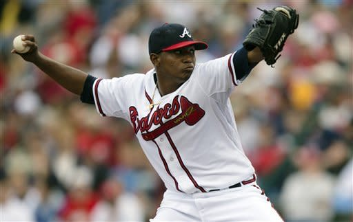 Teheran pitches 5 hitless innings for Braves