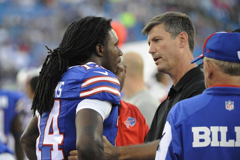 Bills WR Watkins practices after hurting ribs