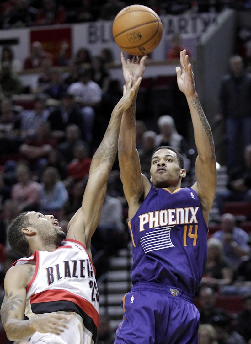 Suns beats Blazers 104-98 in preseason