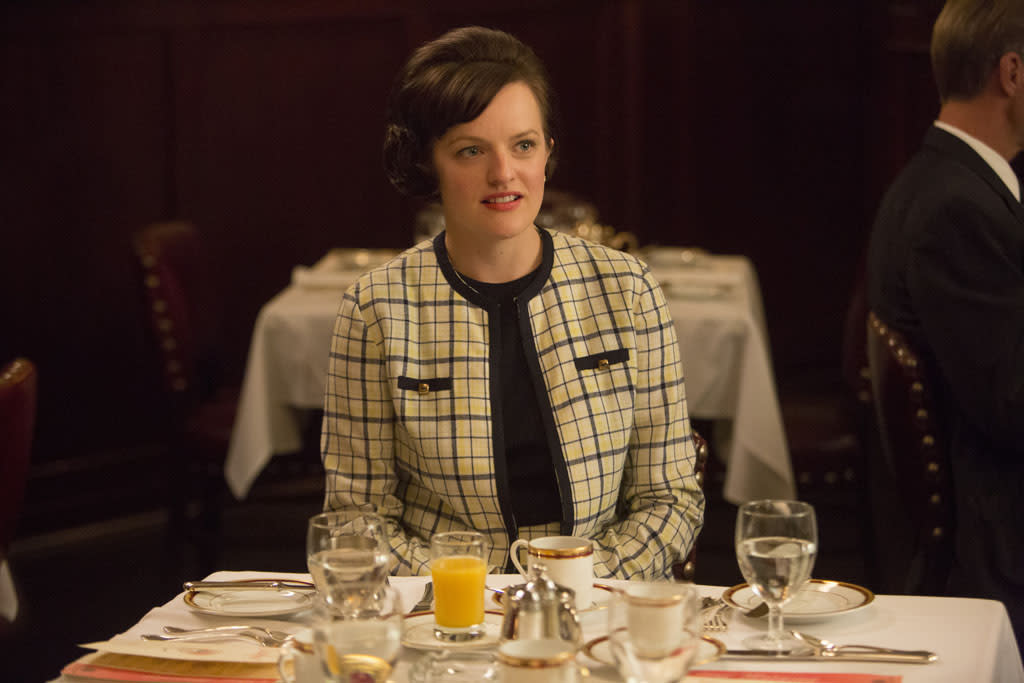 """Peggy Olson (Elisabeth Moss) in the """"Mad Men"""" episode, """"A Tale of Two Cities."""""""