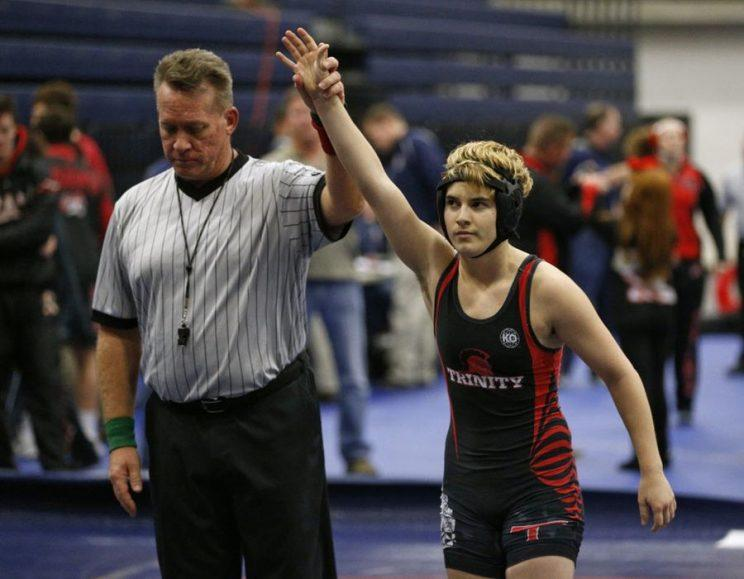 Mack Beggs won the Texas Class 6A Region II 110-pound girls wrestling title Saturday