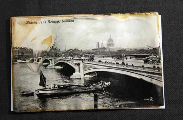 A postcard belonging to Edgar Samuel a second class passenger.