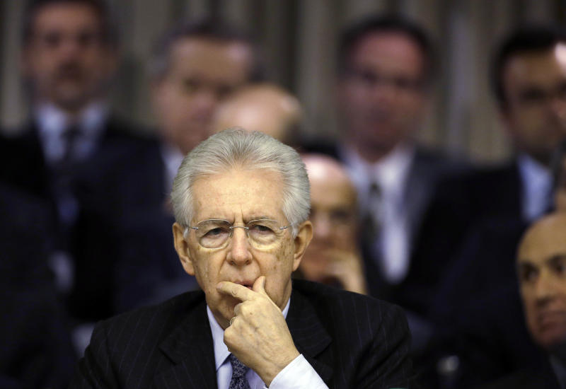 Monti resigns as Italy heads to elections