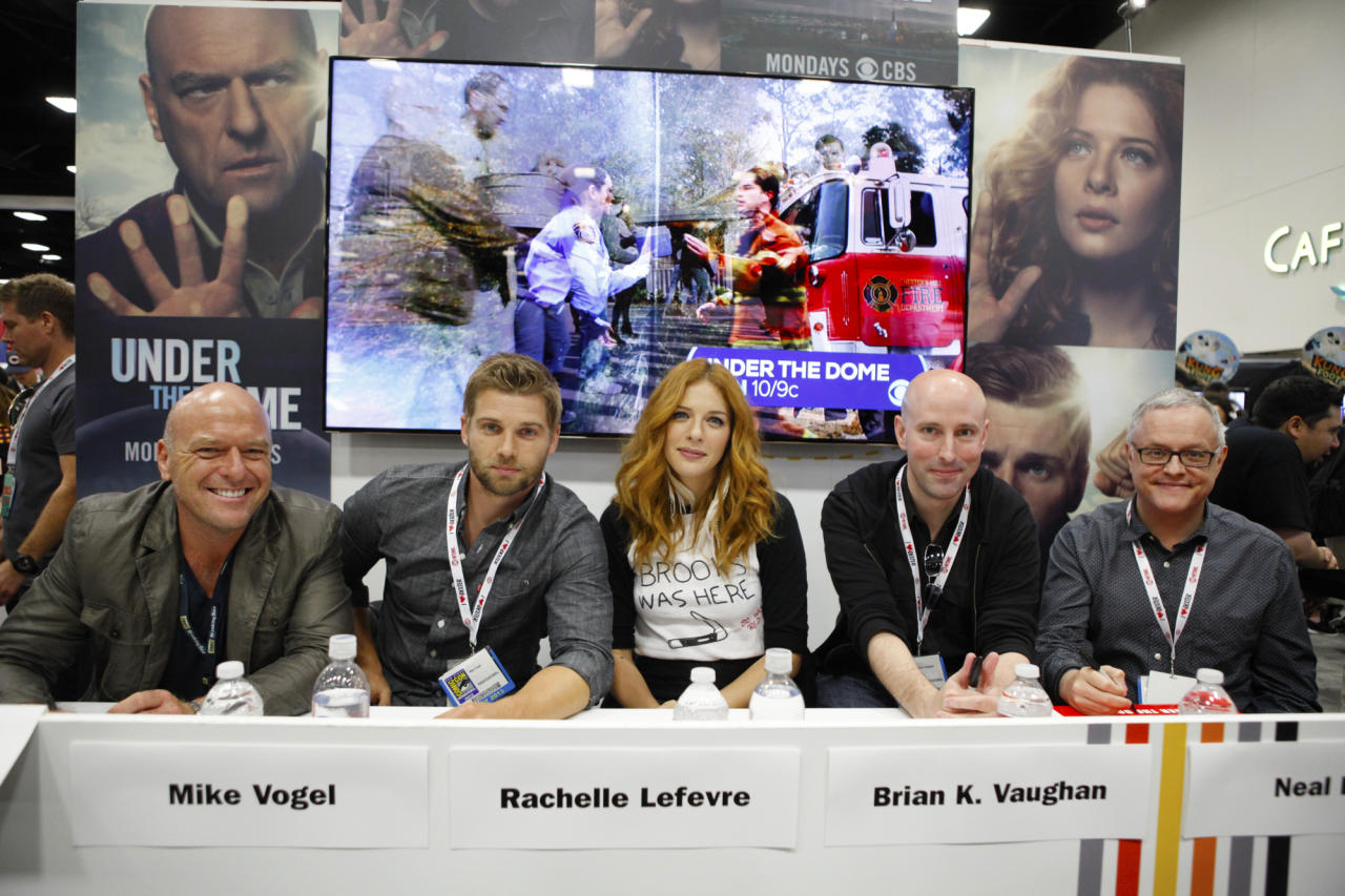 """The Cast and Executive Producers of """"Under the Dome"""" during a signing at Comic-Con 2013, held in San Diego, Ca."""