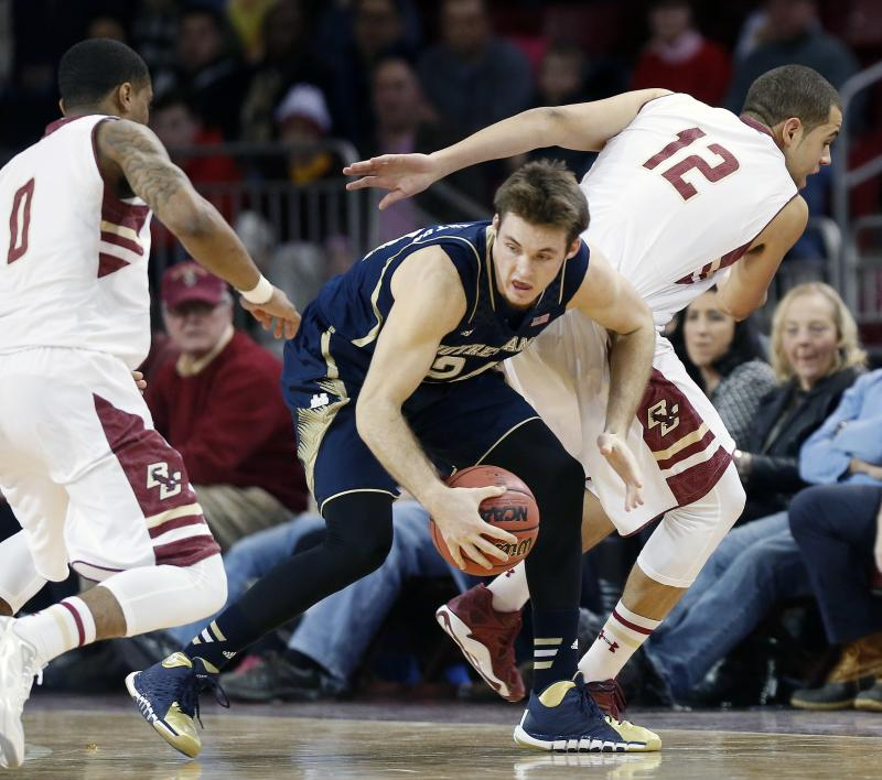 Notre Dame beats Boston College 73-69
