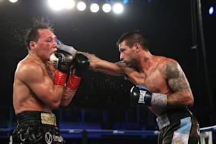 Matthysse (right) lands a straight right against Ruslan Provodnikov. (Getty Images)