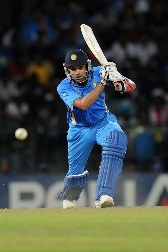 COLOMBO, SRI LANKA - OCTOBER 02:  Rohit Sharma of India bats during the ICC World Twenty20 2012 Super Eights Group 2 match between South Africa and India at R. Premadasa Stadium on October 2, 2012 in Colombo, Sri Lanka.  (Photo by Pal Pillai/Getty Images,)