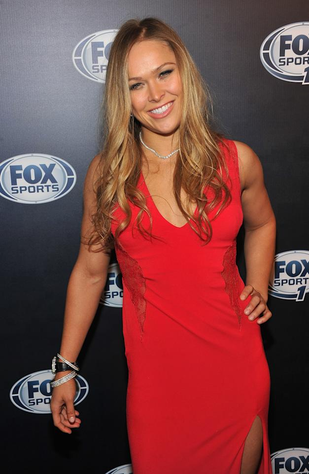 NEW YORK, NY - MARCH 05:  MMA fighter Ronda Rousey attends the 2013 Fox Sports Media Group Upfront after party at Roseland Ballroom on March 5, 2013 in New York City.  (Photo by Theo Wargo/Getty Images)