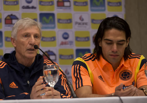 Colombia's Falcao to miss World Cup with injury