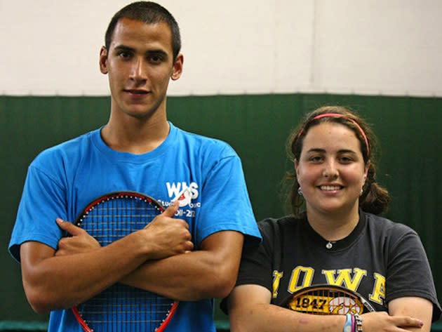 Wissahickon's top boys doubles pair, Ricardo Prince and Claire Uhle — Philadelphia Inquirer