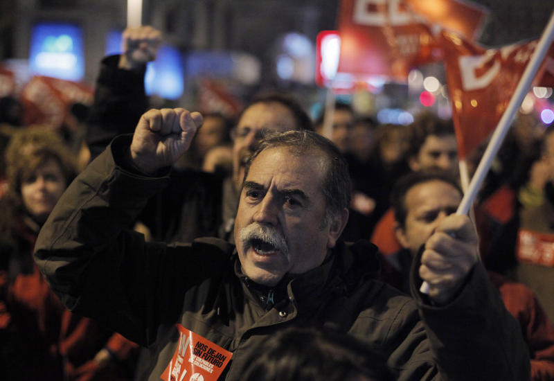 Europe's workers stage austerity protests