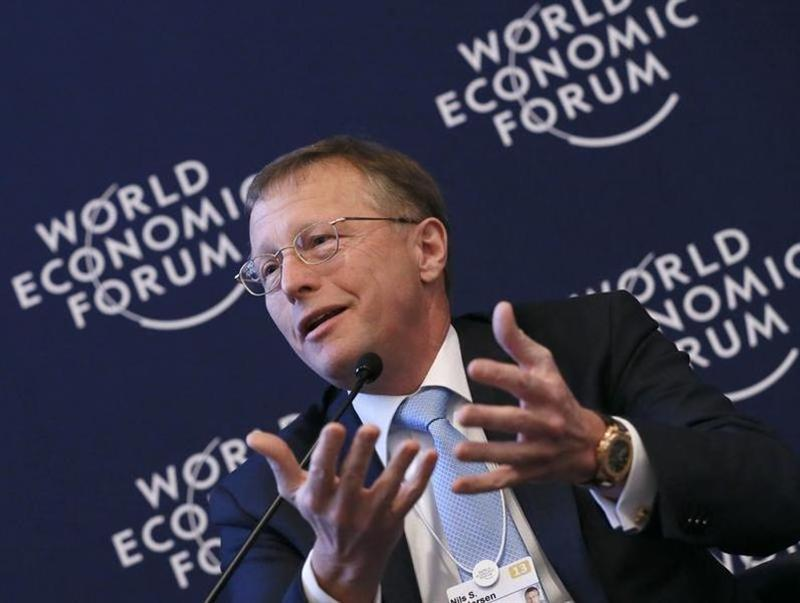 Nils Smedegaard Andersen Group Chief Executive Officer of A.P. Moller-Maersk attends WEF in Davos