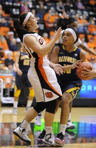 No. 6 Cal women rout Oregon State 60-38