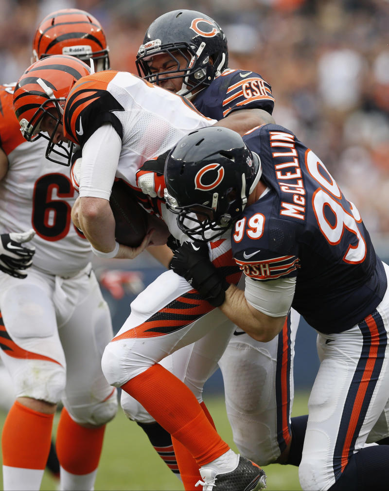 Bears worried more about pass rush than Peterson