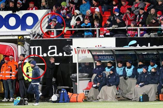Circled: AVB and the offending fan (nordlys.no)