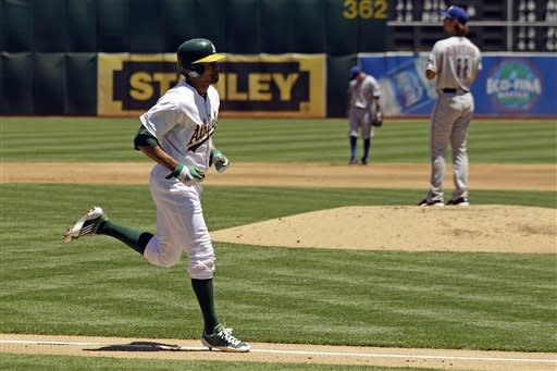 Crisp leads Athletics past Rangers 7-1