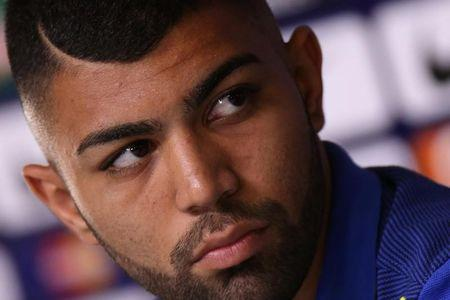 2016 Rio Olympics - Football - Men's Training - Serra Dourada Stadium - Goiania, Brazil - 28/07/2016. Brazil's Gabriel Barbosa during a news conference before their international friendly soccer match against Japan.     REUTERS/Ueslei Marcelino/File Photo
