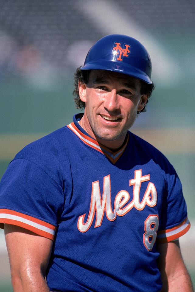 FILE:  Catcher Gary Carter #8 of the New York Mets with his helmet on during a 1986 season game. According to reports on May 21, 2011, Carter has four small tumors on his brain.  (Photo by Rick Stewart/Getty Images)