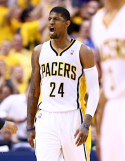 Paul George and the Pacers lost to the Heat in the East finals. (Getty Images)